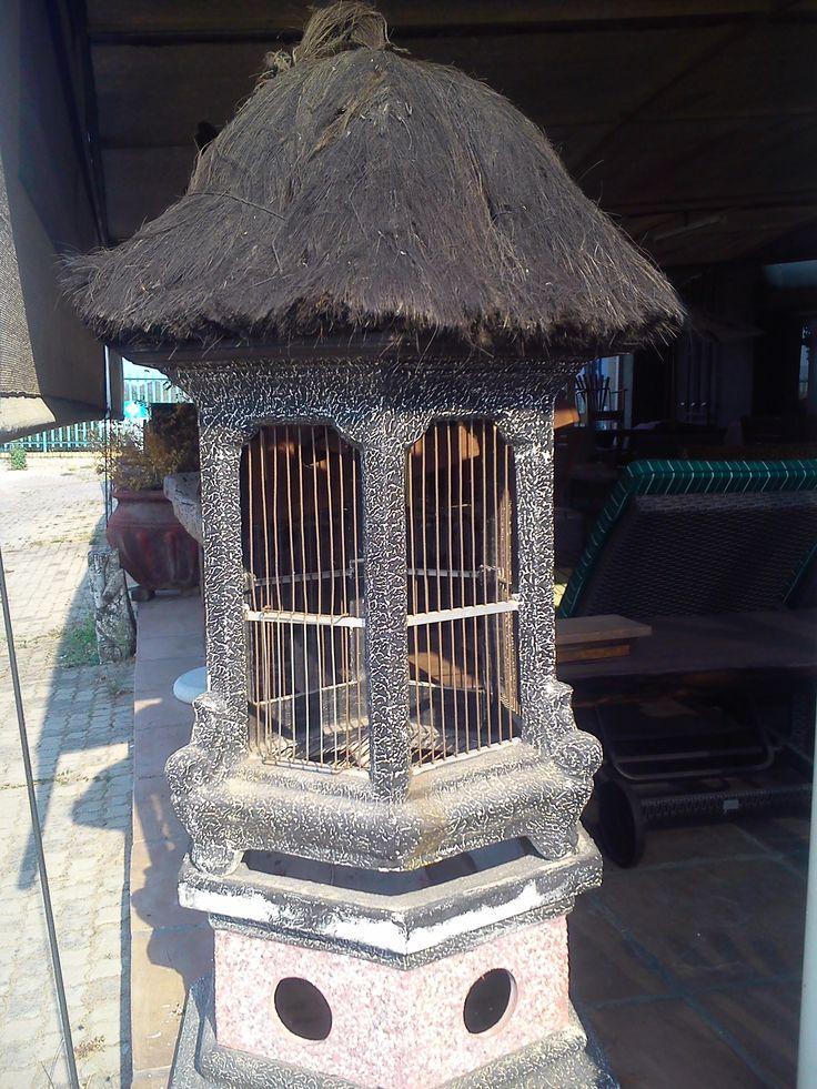 This bird cage is up for sale at House of Class. This prefect for a small sized bird(s) and is quite a unique bird cage. It will look prefect on a veranda and brings a bit of summer in.  For more info on price please send House of Class an email on direct@hofc.co.za