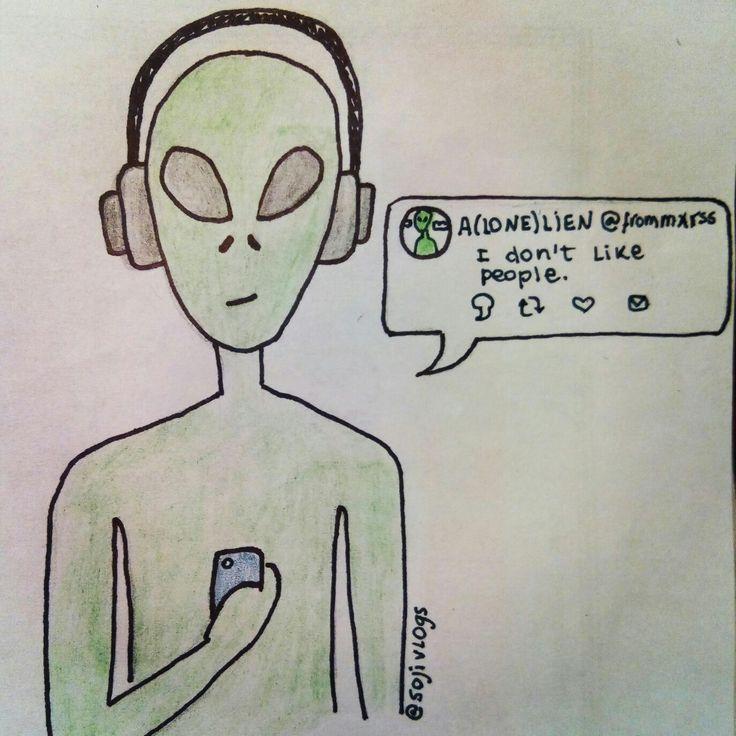 Alien Music Twitter Drawing