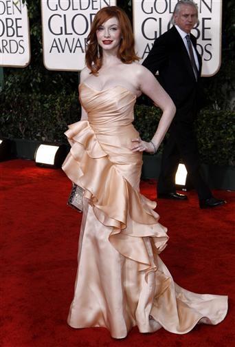 Christina Hendricks, Red Carpet Golden Globes 2010