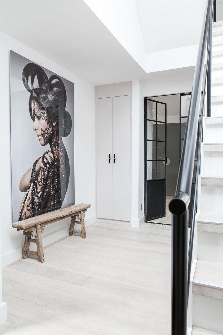 10 beste idee n over trappenhuis ontwerp op pinterest trap ontwerp trappen en drijvende trap - Behang voor trappenhuis ...