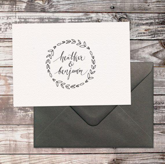 Personalized wedding logo / custom monogram for all wedding stationery / hand lettering - digital file