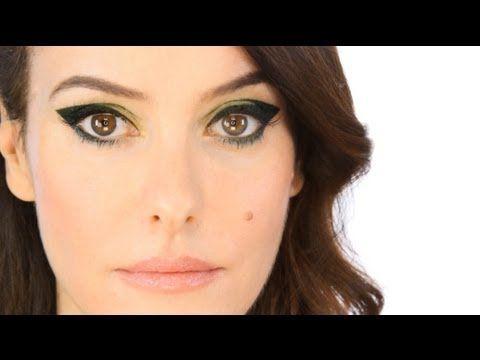 I'm kind of crazy about this dramatic 60s-ish mod eye.     Lisa Eldridge-Liquid Liner - Dark Olive Green