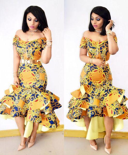 Lovely Ankara Gown Design for Ladies - DeZango Fashion Zone