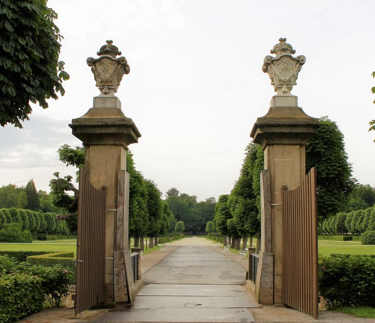 Entrance to Moritzburg castle near Dresden, Germany