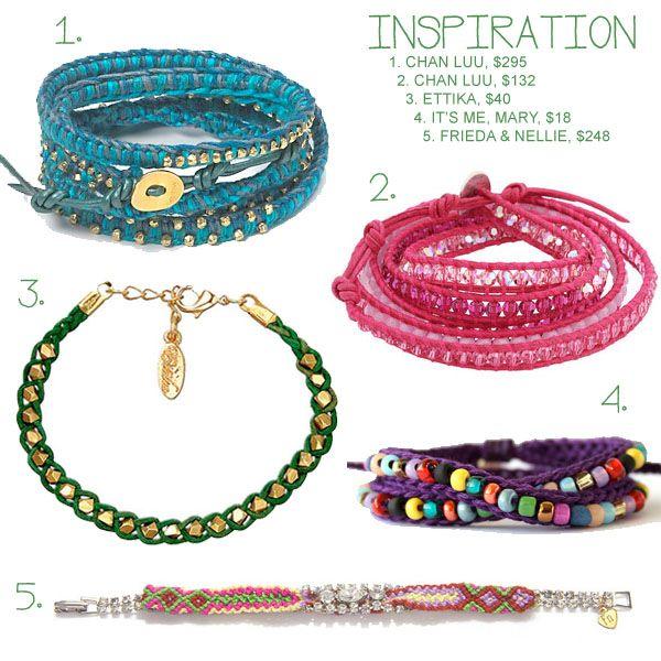 crocheted beaded bracelet inspiration