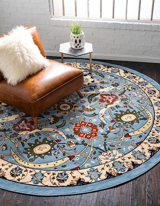 Blue Isfahan Design Area Rug Sunroom Pinterest Rugs Area Rugs
