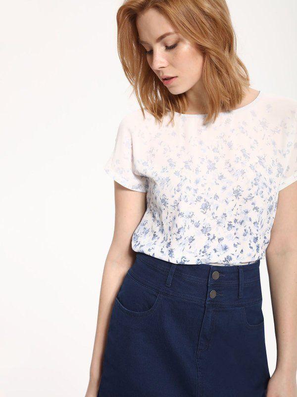 W2017 T-shirt damski biały  - t-shirt krótki rękaw - TOP SECRET. SPO3009 Świetna jakość, rewelacyjna cena, modny krój. Idealnie podkreśli atuty Twojej figury. Obejrzyj też inne t-shirty tej marki.