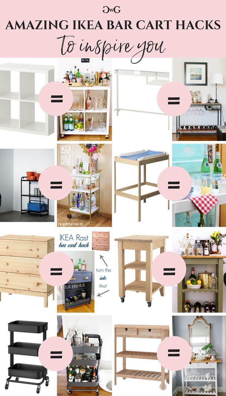 Beispiele für Ikea Bar Cart Hacks, um Sie zu insp…