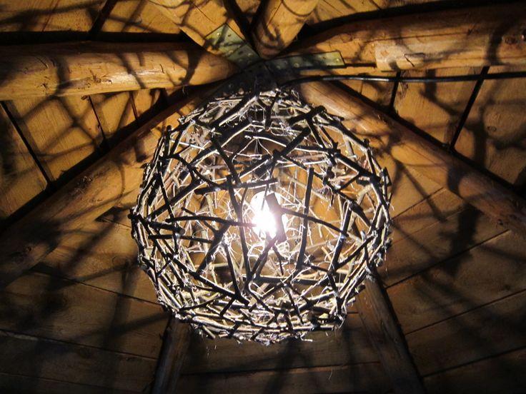 Как Сделать Стильную Люстру из Веток Своими Руками / Crafts chandelier f...