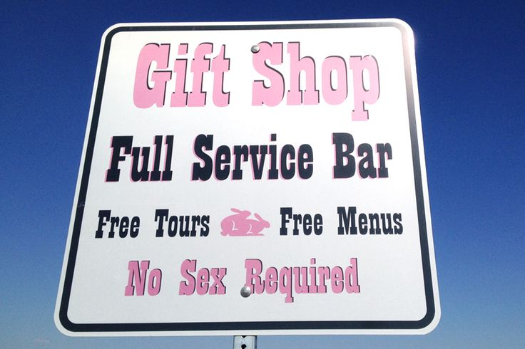 Sign on the road to Nevada's Moonlite BunnyRanch brothel.