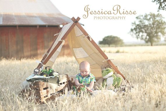 Kids Photo Prop Tent Frame and Patchwork Cover Photography Props Outdoor Photography Prop Outdoor Photo Prop A Tent Frame Kids Tent