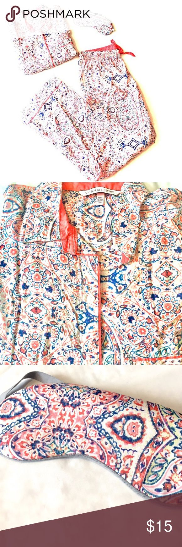 Host Pick❗️🎉 Matching Pajama Set Victoria's Secret Matching Pajama Set •size small •56% cotton, 44% modal •comes with eye mask •multiple colors  Cozy & comfy🤗 Victoria's Secret Intimates & Sleepwear Pajamas