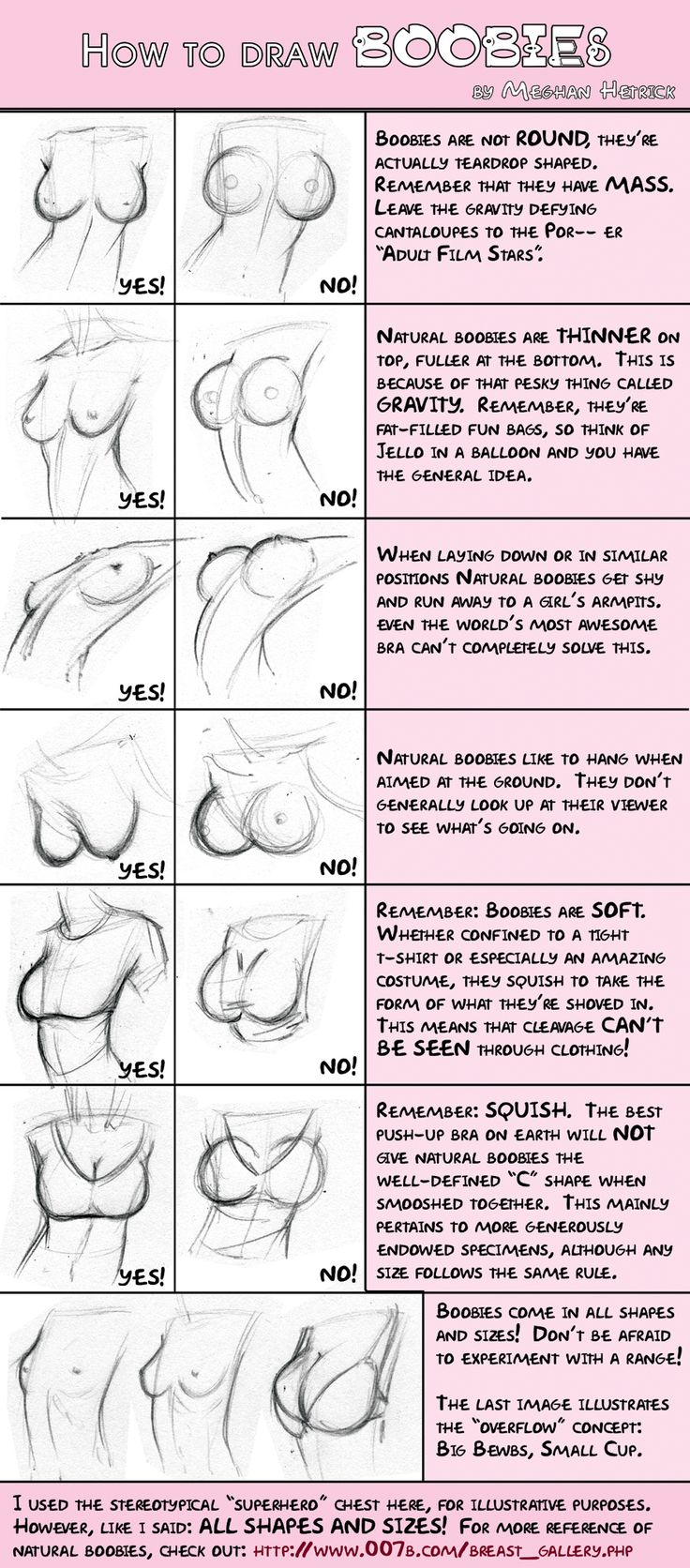 I wish every comics artist was required to (at least) read this.  They're not melons, boys.