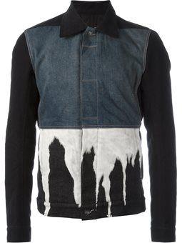 bleach effect denim jacket