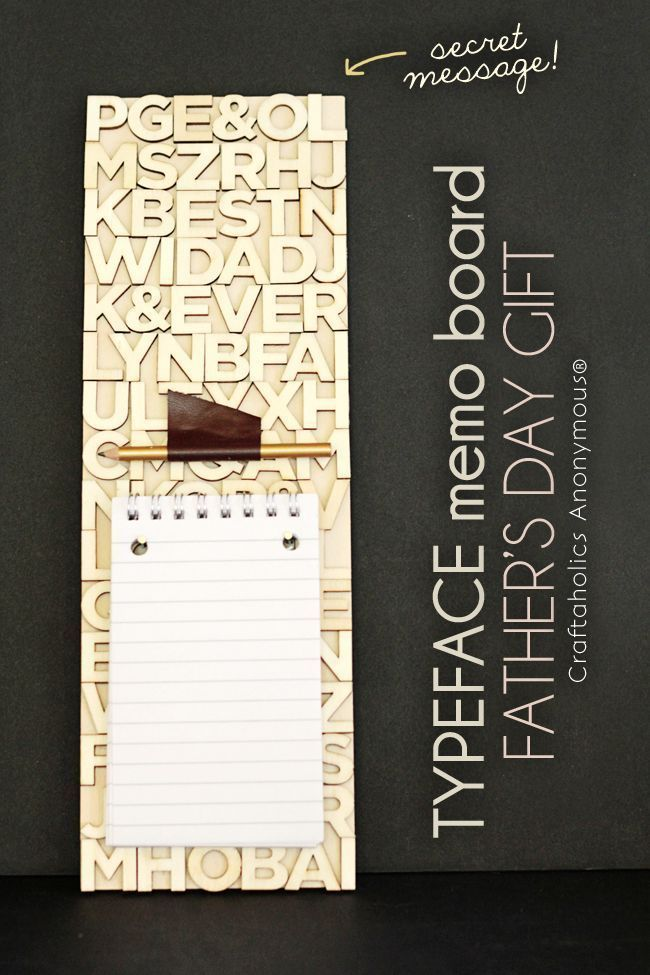 Typeface Memo Board – Handmade Father's Day Gift