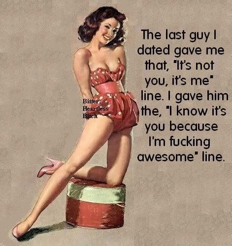 I think we might have dated the same guy. He gave me that same line!!