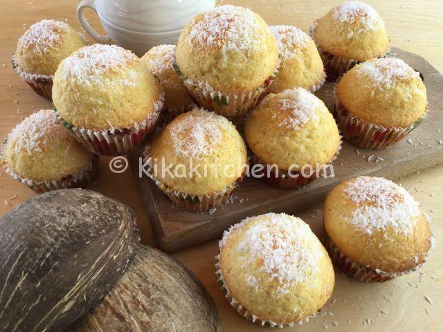 ricetta muffin al cocco