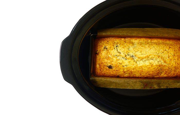 Plum cake. Receta para Crock Pot