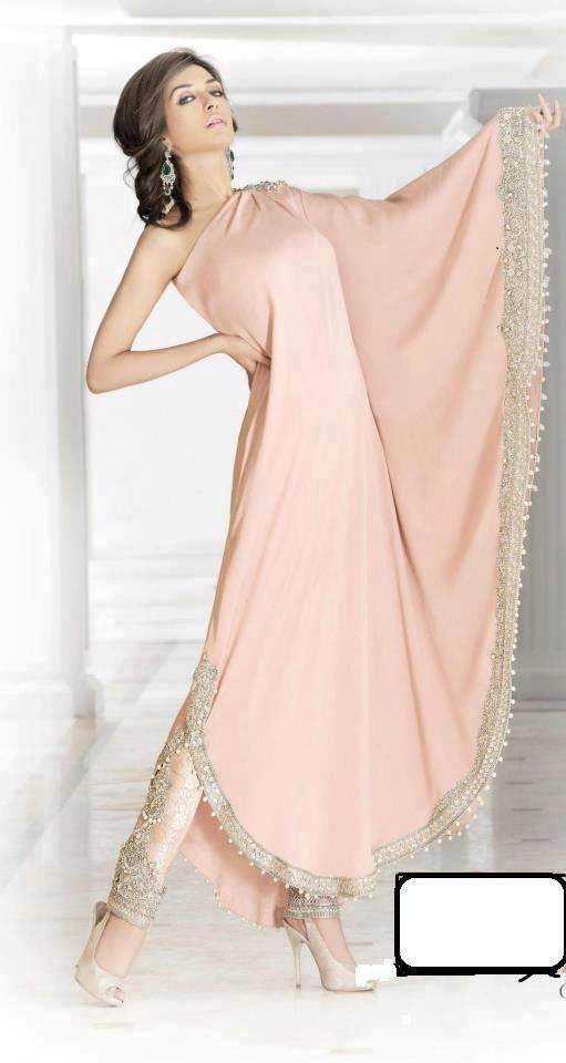 Soma Sengupta Indian Fashion- Icy Pink Simplicity!