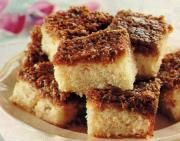 Heerlijke Deense koek. De cake moet wel met bruine suiker i.p.v. kristal suiker. En een dubbele topping met espresso i.p.v. melk.