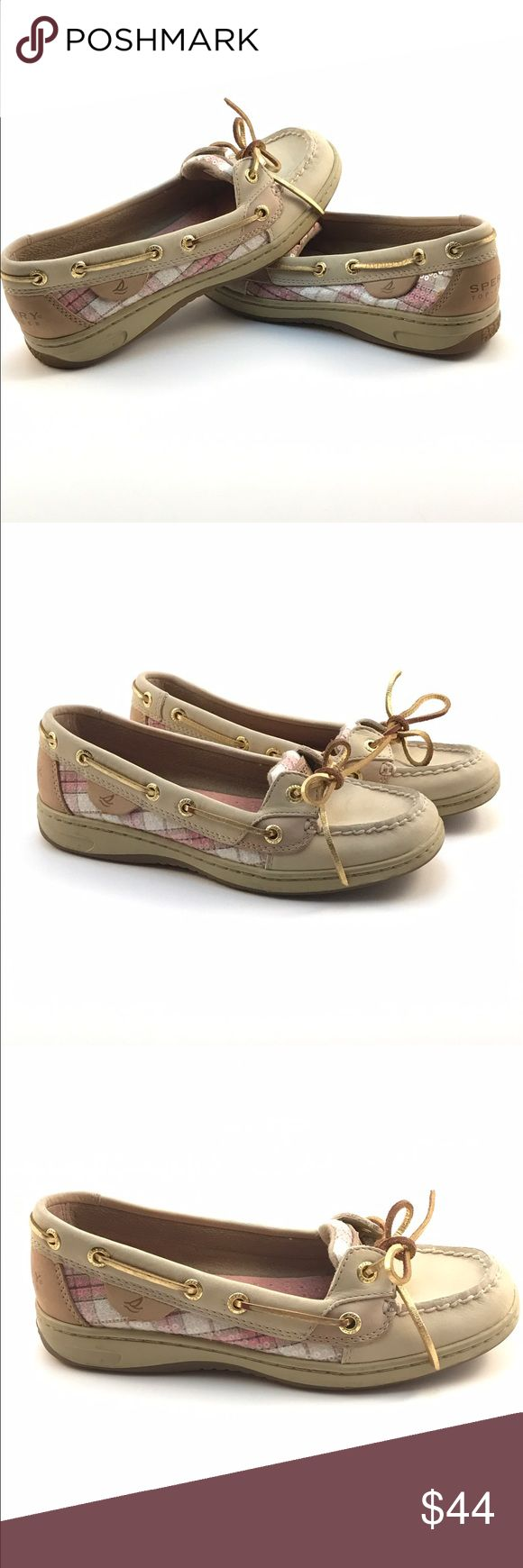 Women's Sperry Top Sider Angelfish Pink Plaid Only worn twice! Brand new looking Sperry Angelfish with a pink plaid sequin accent.  Get them before they're gone! Perfect for upcoming summer fun! Sperry Top-Sider Shoes Flats & Loafers