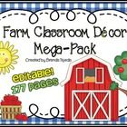 This mega-pack is jam-packed with all you need for a super-cute farm-themed classroom! So much to see: see preview for a better look!    ~Calendar- N...