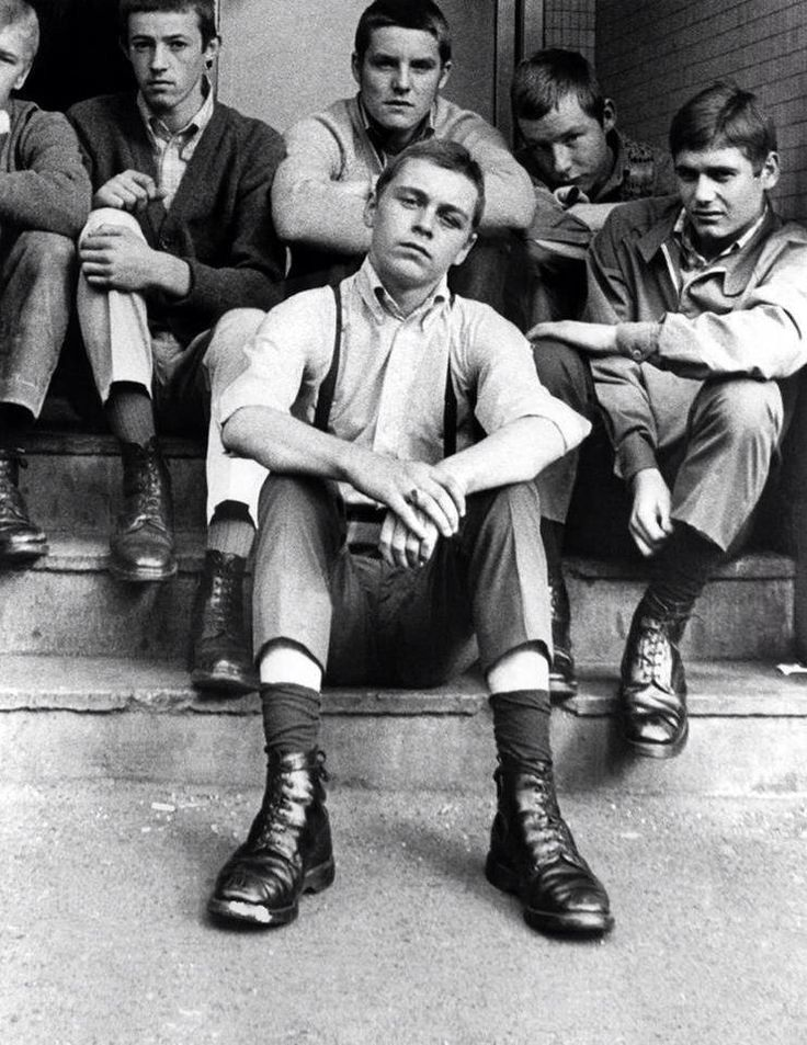 "gentleman-harrington: "" 68-70 Dapper young skinheads..when reggae was king. "" sick pic, though I've never been a fan of the dm/work boot with sta-prest/non-work pant combo."