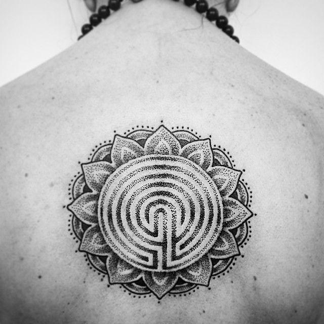 Labyrinth Mandala Concept Inked Labyrinth Tattoo