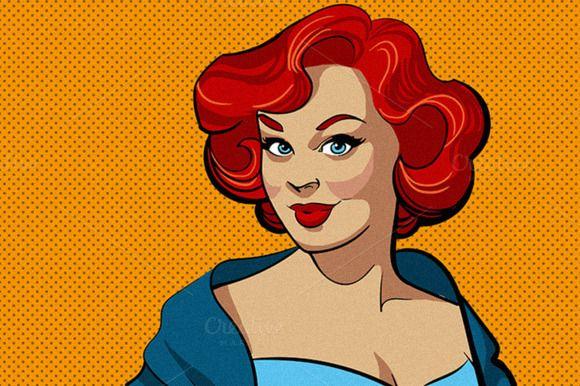 Pin-up woman - Illustrations