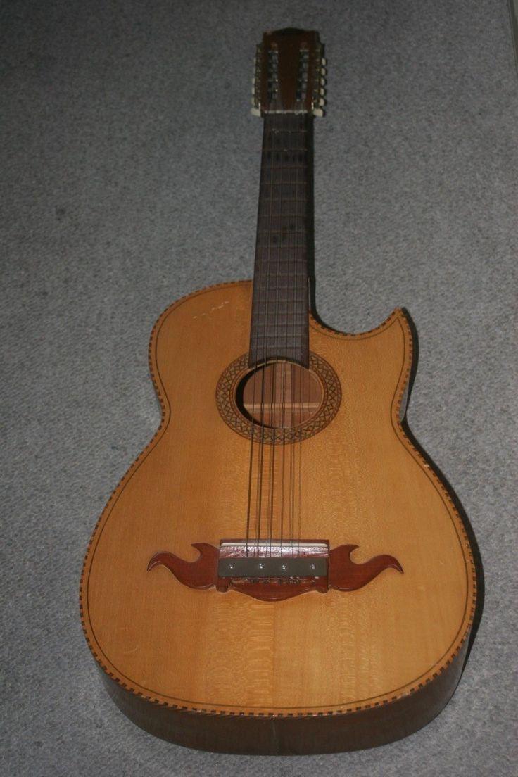 Jom Guitarras De Calidad Paracho Mich. Mexico Bajo Sexto Old 12 String Guitar