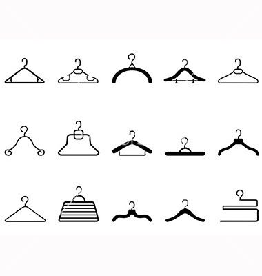 Clothes hangers icon vector 1436457 - by huhulin on VectorStock®