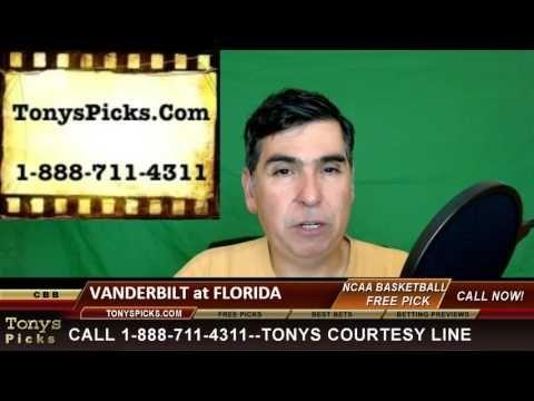 Vanderbilt Commodores vs. Florida Gators Pick Prediction College Basketb...
