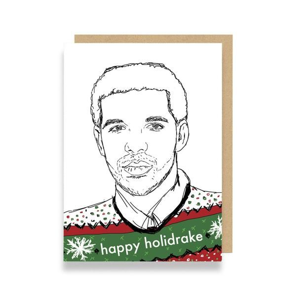 Funny Christmas card featuring Drake