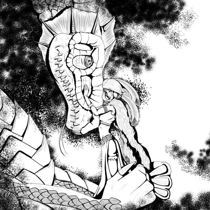 With dragon by Nyantara
