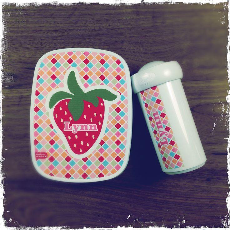 Lunchbox set met een ontwerp van Pakhuis Dutch-kie®.