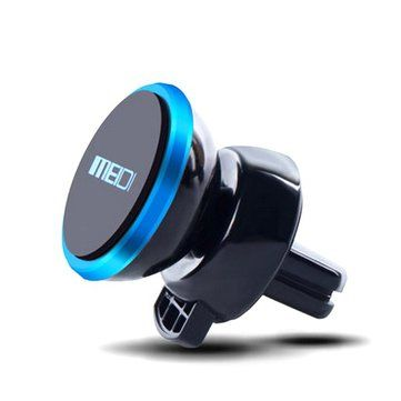 MEIDI Car Air Vent One-Touch Self Lock Magnetic Phone Holder 360 Degrees Rotation Strong Magnet Sale - Banggood.com