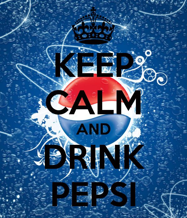 'KEEP CALM AND DRINK PEPSI' Poster