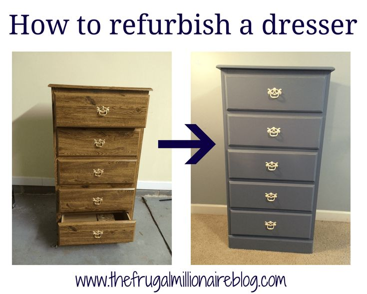 How to refurbish furniture - a look at my first piece, a dresser for $15!