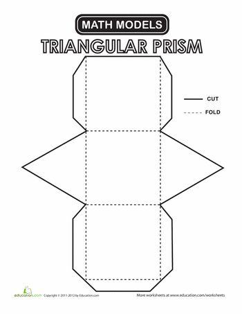 Worksheets: Triangular Prism