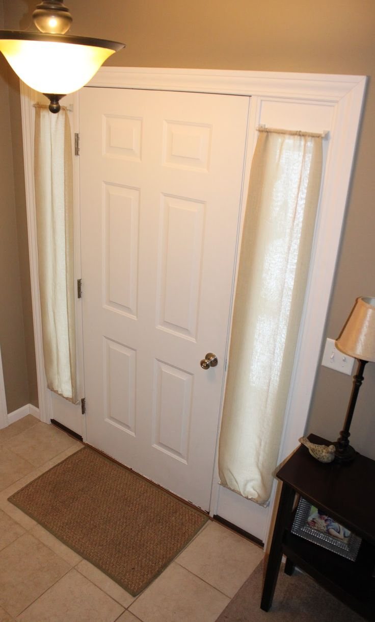 Curtain for front door with glass - My Husband Has Been Begging Me To Do Something About Our Front Door Windows For A