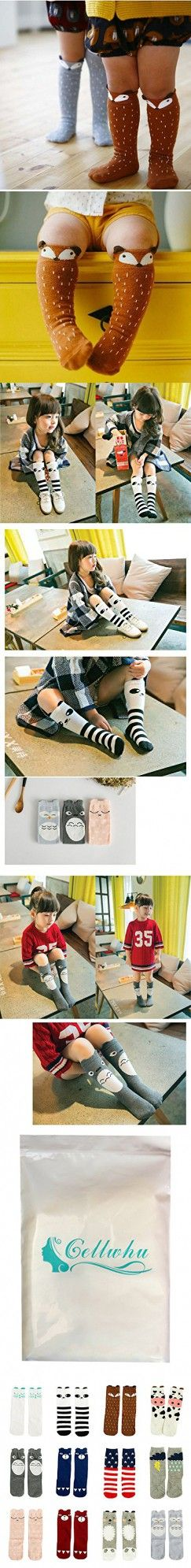 Gellwhu 12 Pairs Baby Girls Boys Cartoon Knee High Stockings Tube Socks 1-5Y (0-1 Year, 12 Pairs Set A)