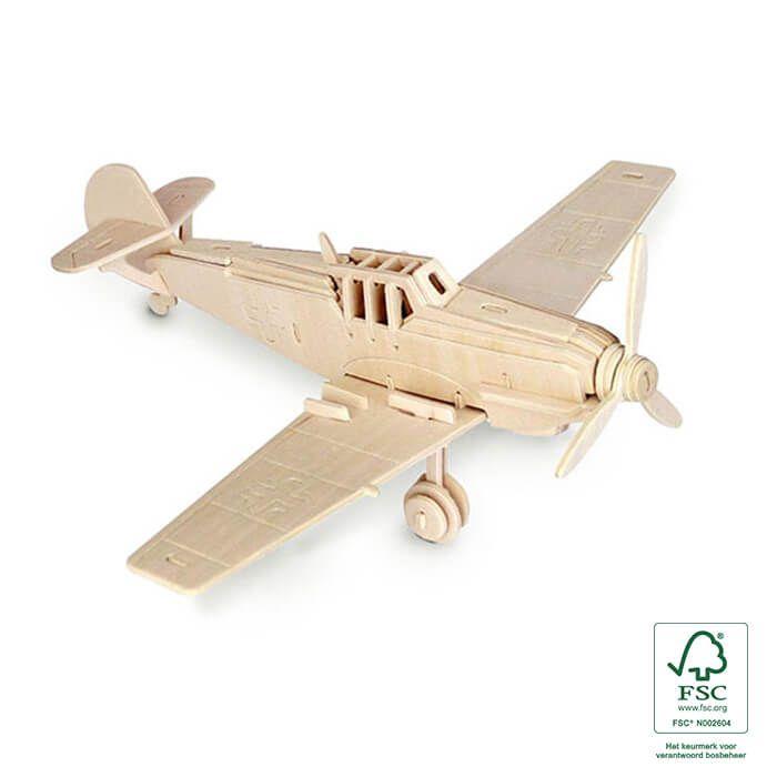 3D puzzels houten vliegtuig - Messerschmitt BF 109