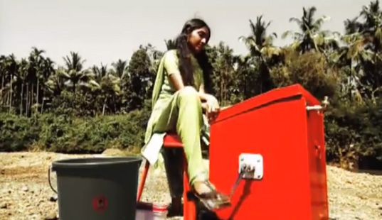 Fourteen Year-Old Girl Invents a Pedal-Powered Washing Machine/Exercise Bike to Wash Her Family's Clothes