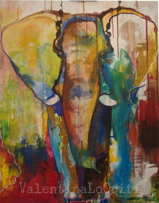 Valentina Lo Criti Elephant | acrylic on canvas