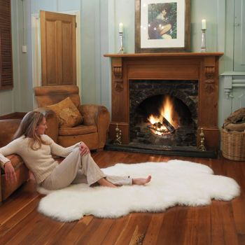 Costco! $150 for a 4x6 sheepskin rug Auskin 100% Natural Lambskin Rug Collection