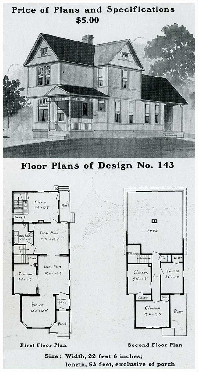 Radford 1903 Queen Anne Cross Gabled With Patterned Shingles Queen Anne House House Plans House Blueprints
