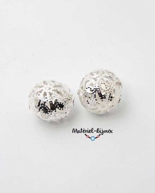 deux perles filigrane pour bijoux