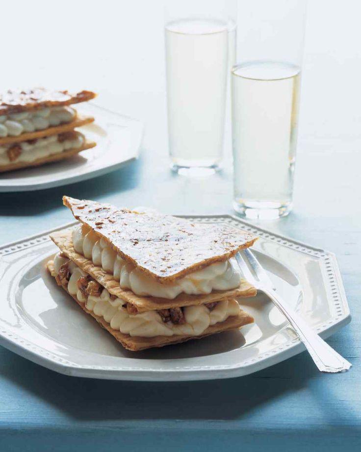 Praline Napoleons with Almond Cream Filling | Recipe | Napoleon ...