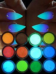 Manicure+Luminous+Powder+Environmental+Radiation+Luminous+Powder+Super+Bright+Color+12pcs+/+Set+–+USD+$+13.39