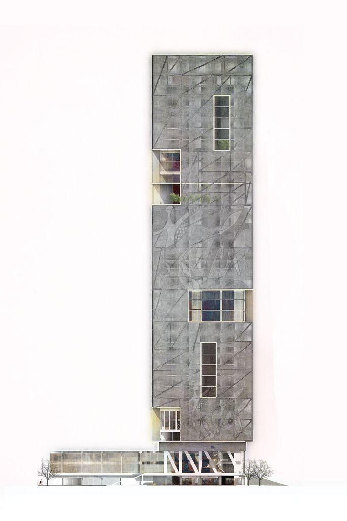 architecture elevation _ .MIA school of architecture art & design by Hanis Abd Razak